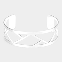 Geometric Cut Out Metal Cuff Bracelet