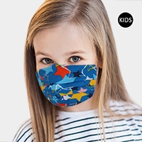Star Print Cotton Kids Fashion Mask