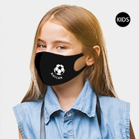 Soccer Point Reusable Kids Fashion Mask