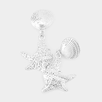 Metal Shell Sea Life Earrings