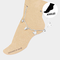 Metal Butterfly Station Anklet