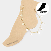 Metal Star Station Anklet