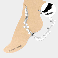 Metal Disc Station Anklet
