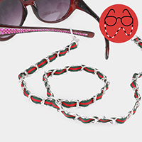 Color Block Accented Metal Chain Glasses Chain