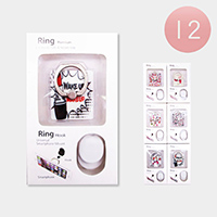 12PCS - Cosmetic Print Kickstand Phone Ring Holders