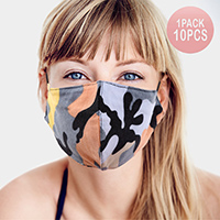 10PCS - Camouflage Pattern Print Cotton Fashion Masks