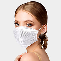 Rhinestone Mesh Fashion Mask