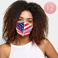12PCS - USA Flag Black Lives Matter Print Fashion Masks