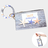 Last Minute Starfish Print Key Chain / Bracelet / Pouch Bag