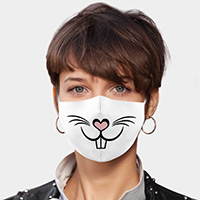 Rabbit Cartoon Lip Print Cotton Fashion Mask