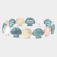 Metal Shell Stretch Bracelet