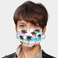 Palm Tree Print Cotton Fashion Mask