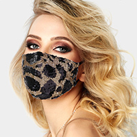 Leopard Pattern Sequin Fashion Mask