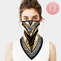 12PCS - Chain Breathable Earloop Neck Gaiter Face Cover