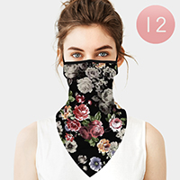 12PCS - Flower Breathable Earloop Neck Gaiter Face Cover
