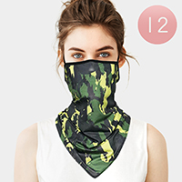 12PCS - Camouflage Breathable Earloop Neck Gaiter Face Cover