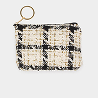 Tweed Lurex Coin / Card Purse