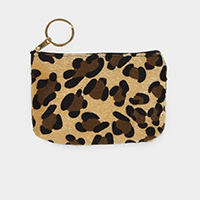 Leopard Hair Coin / Card Purse