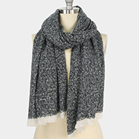 Fluffy Woven Oblong Scarf