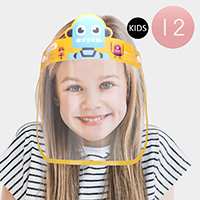 12PCS - Cute Character Elastic Kids Pack Face Shields