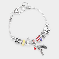 New York Charm Multi Bead Bracelet