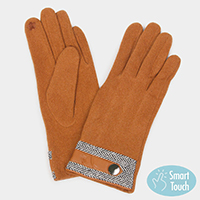 Herringbone Cuff Smart Gloves