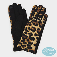 Leopard Print Smart Gloves