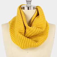 Cowl Neck Style Knit Infinity Scarf