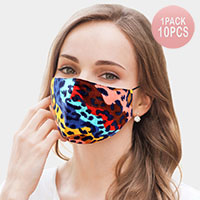 10PCS - Leopard Print Cotton Fashion Masks