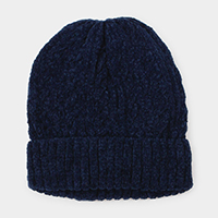 Cable Knit Chenille Beanie Hat
