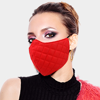 Leather Quilting Pattern Fashion Mask