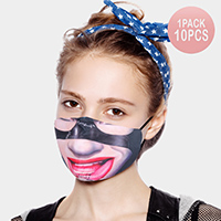 10PCS - Robber Print Cotton Fashion Masks