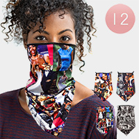 12PCS - Michelle Obama Breathable Earloop Neck Gaiter Face Cover