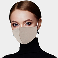 Solid Cotton Fashion Mask