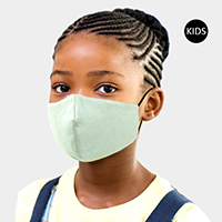 Solid Cotton Kids Fashion Masks