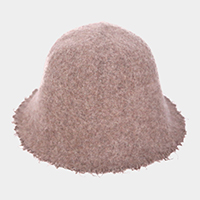 Felt Frayed Edges Bucket Hat