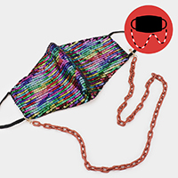 Colored Oval Link Mask Chain / Glasses Chain