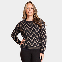 Chevron Zigzag Pattern Sweater