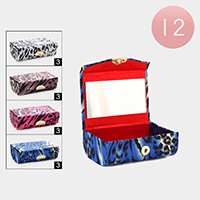 12PCS - Leopard Pattern Print Mirror Lipstick Cases