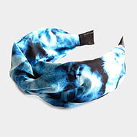 Tie Dye Burnout Knot Headband