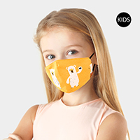 Bear Print Cotton Kids Fashion Mask