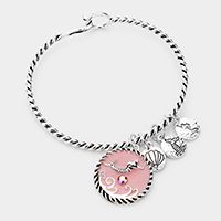 Mermaid Shell Charm Hook Bracelet