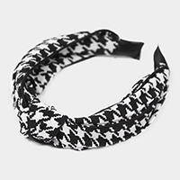 Houndtooth Burnout Knot Headband