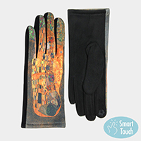 The Kiss Print Smart Touch Gloves