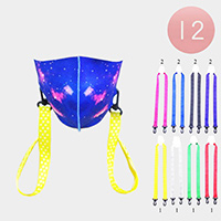 12PCS - Solid Lanyard Mask Chains