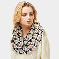 Geometric Patterned Infinity Scarf
