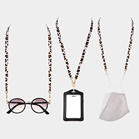 Leopard Lanyard Mask Chain / Glasses Chain / I.D Holder Necklace