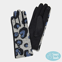 Leopard Pattern Smart Touch Gloves