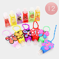 12PCS - Hand Sanitizer With Colorful Silicone Butterfly Holders
