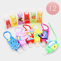 12PCS - Hand Sanitizer With Colorful Silicone Sealife Holders